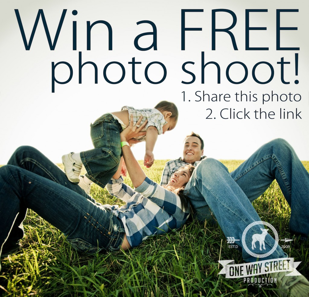 Win a FREE family or portrait photo shoot with One Way Street Production