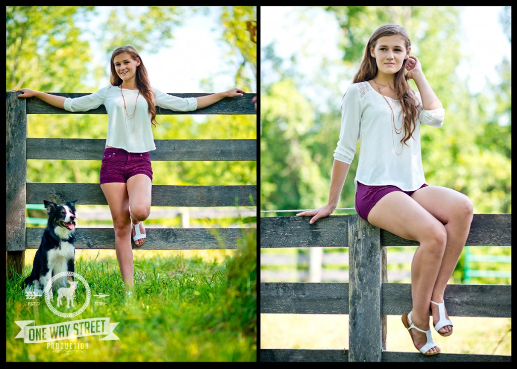 Chicago Senior Portraits - Standing Sitting Fence